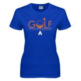 Ladies Royal T Shirt-Golf Flag