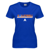 Ladies Royal T Shirt-Volleyball Shelf