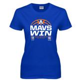 Ladies Royal T Shirt-Mavs Win