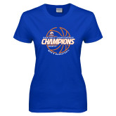 Ladies Royal T Shirt-2017 Mens Basketball Champions Basketball