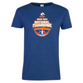 Ladies Royal T Shirt-Movin Mavs NWBA National Champions