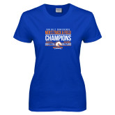 Ladies Royal T Shirt-2017 Mens Track and Field Champions