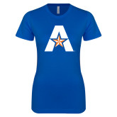 Next Level Ladies SoftStyle Junior Fitted Royal Tee-A with Star