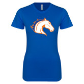 Next Level Ladies SoftStyle Junior Fitted Royal Tee-Horse Head