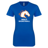 Next Level Ladies SoftStyle Junior Fitted Royal Tee-Mens Basketball