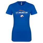 Next Level Ladies SoftStyle Junior Fitted Royal Tee-Baseball Seams on Top