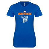 Next Level Ladies SoftStyle Junior Fitted Royal Tee-Basketball Hanging Net
