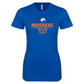 Next Level Ladies SoftStyle Junior Fitted Royal Tee-Basketball Net