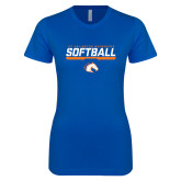 Next Level Ladies SoftStyle Junior Fitted Royal Tee-Softball Shelf
