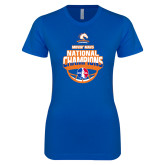 Next Level Ladies SoftStyle Junior Fitted Royal Tee-Movin Mavs NWBA National Champions