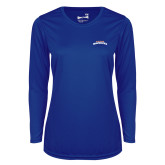 Ladies Syntrel Performance Royal Longsleeve Shirt-UTA Mavericks stacked
