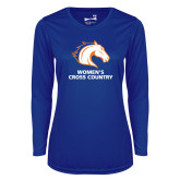 Ladies Syntrel Performance Royal Longsleeve Shirt-Womens Cross Country