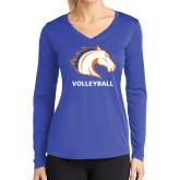 Ladies Syntrel Performance Royal Longsleeve Shirt-Volleyball
