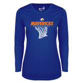 Ladies Syntrel Performance Royal Longsleeve Shirt-Basketball Hanging Net