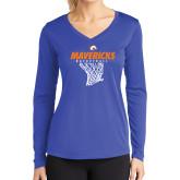 Ladies Syntrel Performance Royal Longsleeve Shirt-Basketball Hanging Net