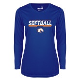 Ladies Syntrel Performance Royal Longsleeve Shirt-Softball Shelf