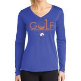 Ladies Syntrel Performance Royal Longsleeve Shirt-Golf Hole