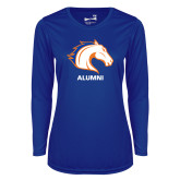 Ladies Syntrel Performance Royal Longsleeve Shirt-Alumni