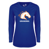 Ladies Syntrel Performance Royal Longsleeve Shirt-Grandma