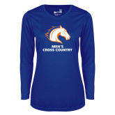 Ladies Syntrel Performance Royal Longsleeve Shirt-Mens Cross Country
