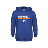 Youth Royal Fleece Hoodie-Softball Shelf