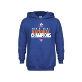 Youth Royal Fleece Hoodie-Movin Mavs National Champions