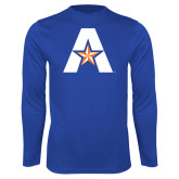 Performance Royal Longsleeve Shirt-A with Star
