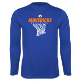 Performance Royal Longsleeve Shirt-Basketball Hanging Net