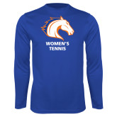Performance Royal Longsleeve Shirt-Womens Tennis