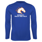 Performance Royal Longsleeve Shirt-Womens Track and Field