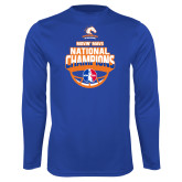 Performance Royal Longsleeve Shirt-Movin Mavs NWBA National Champions