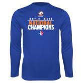 Performance Royal Longsleeve Shirt-Movin Mavs National Champions