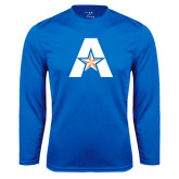 Syntrel Performance Royal Longsleeve Shirt-A with Star