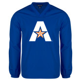 V Neck Royal Raglan Windshirt-A with Star