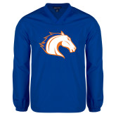 V Neck Royal Raglan Windshirt-Horse Head