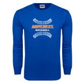 Royal Long Sleeve T Shirt-Baseball inside Laces