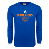 Royal Long Sleeve T Shirt-Basketball Geo Net