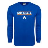 Royal Long Sleeve T Shirt-Softball Shelf
