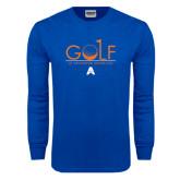 Royal Long Sleeve T Shirt-Golf Flag