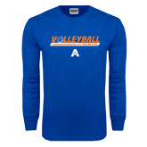 Royal Long Sleeve T Shirt-Volleyball Shelf