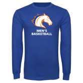Royal Long Sleeve T Shirt-Mens Basketball
