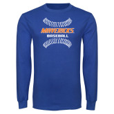 Royal Long Sleeve T Shirt-Baseball Seams