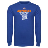 Royal Long Sleeve T Shirt-Basketball Hanging Net