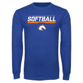 Royal Long Sleeve T Shirt-Softball Shelf