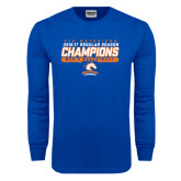 Royal Long Sleeve T Shirt-2016-17 Regular Season Champions - Mens Basketball Stencil
