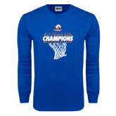 Royal Long Sleeve T Shirt-2016-17 Regular Season Champions - Mens Basketball Hanging Net