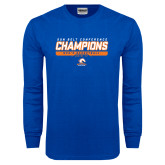 Royal Long Sleeve T Shirt-2017 Mens Basketball Champions Stacked