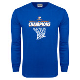 Royal Long Sleeve T Shirt-2017 Mens Basketball Champions Net