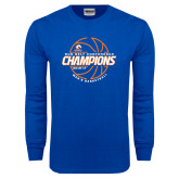 Royal Long Sleeve T Shirt-2017 Mens Basketball Champions Basketball