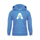 Youth Light Blue Fleece Hood-A with Star